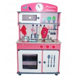Sale! NEW! Wooden Kitchen Play Set + Accessories PINK