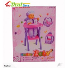 Brand New! Dolls High Chair with Accessories
