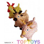 BrandNew Fabric Covered Deer Moonhoppers with Pump
