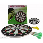 Brand New! Duel Faced Dart Board with 6 Darts