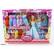 NEW! Fashion Doll with 16 Dresses simillar Barbie