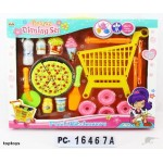 New! Kids Shopping Trolley with Food Play Set