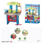 New! Deluxe Kids Kitchen Set with Light & Sound
