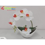 New! Beautiful Artificial Orchid Plant in Pot 24cm