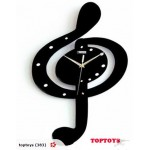SALE! Musical Shape Wooden Wall Clock $25