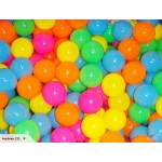 100 x60mm Multicoloured Plastic Balls for Kid Pool