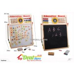 2in1 Wooden Magnetic Whiteboard & Blackboard Easel