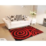 SALE! New! Red/Black Contemporary Floor Rug 2x1.4m