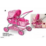 NEW! Lovely Pink Dolls Pram / Stroller 7167A