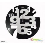 NEW! 3D Wooden Numbers Wall Clock- Black/White