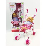Sale! NEW!Gorgeous Dolls Stroller/Push Chair +Doll