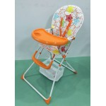 Brand New Foldable Baby High Chair- ORANGE