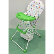 Brand New Foldable Baby High Chair- GREEN