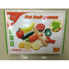 NEW! Wooden Vegetable & Fruit Cutting Play Set