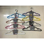 New! Non-Slip Rubber Coated Metal Hangers x15