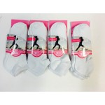 New Women's Ankle Socks SIZE8-12 (12 Pairs) White