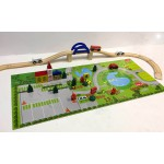 SALE!Wooden Train Set+Puzzle Mat-ThomasCompatible