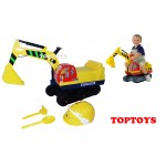 NEW! Childs Ride On Excavator with Helmet