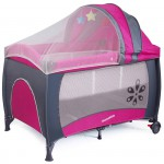 Sale! Luxurious Travel Portacot + Bassinette +Play Yard+Changing Table PINK