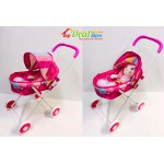 New! dolls pram/stroller with soft doll