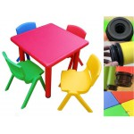 Seconds! Sale! Durable Plastic 4-Seat Children's Table