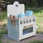 Sale! NEW! Wooden Kitchen + Stove Play Set- White