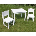 SALE! New! Wooden Kids Table and chairs - White