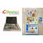 SaleNew! Wooden Puzzle & Drawing Board Set in Box