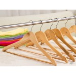 NEW! Wooden Coat Hangers, Clothes Dress Hanger x15